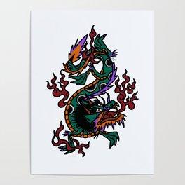 Dragon Tattoo Flash Poster