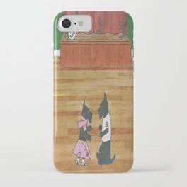 At the Hop-Scotch - Scotties - Scottish Terriers iPhone Case