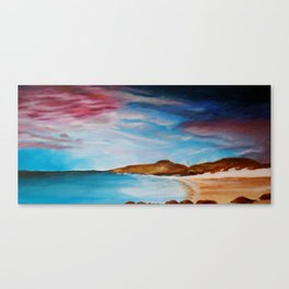 turquoise and pink Canvas Print