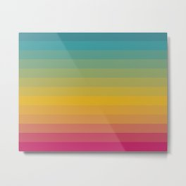 It's A Dry Heat- Desert Colorful Abstract Stripes Gradient Metal Print