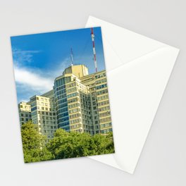 Hospital Building Exterior View, Montevideo, uruguay Stationery Cards