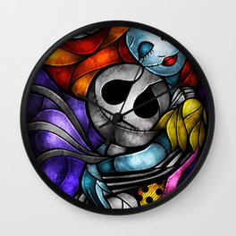 jack and sally forever Wall Clock