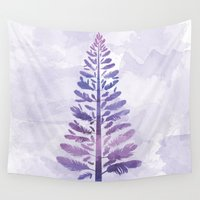 arya Wall Tapestries featuring Feather Tree by Hinal Arya