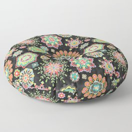 Folky Flora Floor Pillow