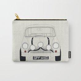 The Italian Job White Mini Cooper Carry-All Pouch