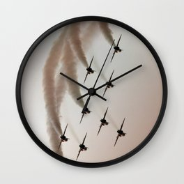 Peach Sky Wall Clock