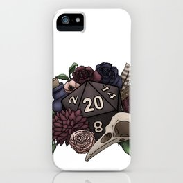 Necromancer D20 Tabletop RPG Gaming Dice iPhone Case
