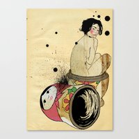 russian Canvas Prints featuring Russian Doll by ODDITY