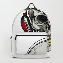 Skull with headsets, goth skull Backpack