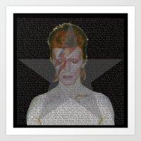 Bowie Tribute II Art Print
