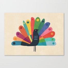 Whimsical Peacok Canvas Print