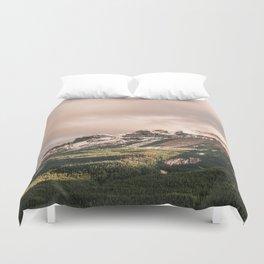 Unicorn Sky   Pink Sunset   Cotton Candy Mountain Landscape Duvet Cover