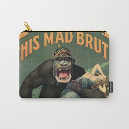 1917 WWI U.S. Army - Destroy this mad brute Enlist - Recruitment Poster by Harry R. Hopps, Carry-All Pouch