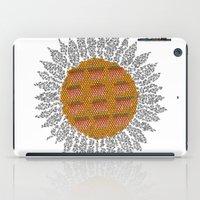 calendar iPad Cases featuring Calendar 2014 - Sunflower by Julia Kisselmann