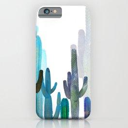 Cactus blue iPhone Case