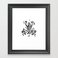 Dancing frog Framed Art Print