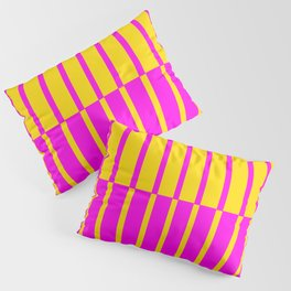 Canary Zebra Plays Piano Pillow Sham