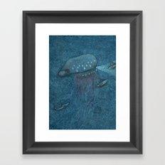 Jellyfish Submarine Framed Art Print