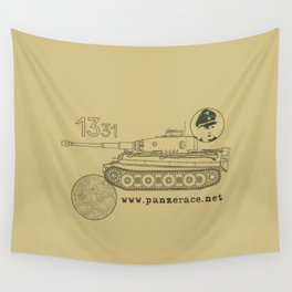 Michael Wittmann Panzer Ace 1331 Kursk Sand/Olive Green Wall Tapestry