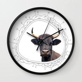 Yellow Horns Wall Clock