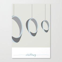 Circling Abstract Canvas Print