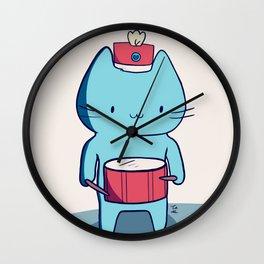 Drummer kitten Wall Clock