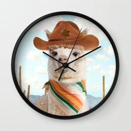 Cowboy Alpaca Wall Clock