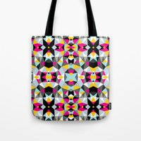 comic book Tote Bags featuring Comic Book Tribal by Beth Thompson
