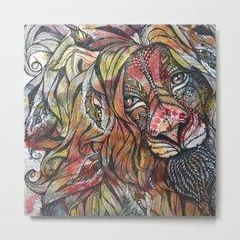 Fortitude (lion mandala) Metal Print