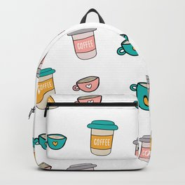 Happy coffee cups and mugs Backpack