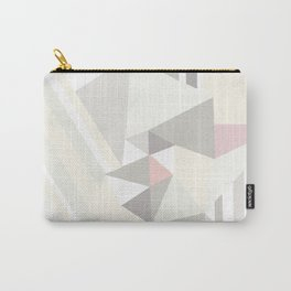 Geometrical modern pastel colors stripes triangles pattern Carry-All Pouch