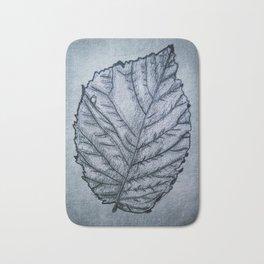b&w leaf Bath Mat
