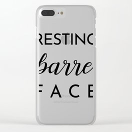Resting Barre Face Clear iPhone Case