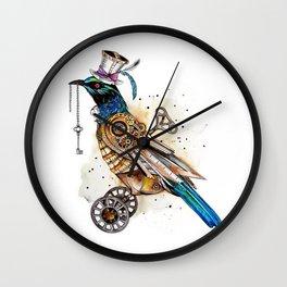 Steampunk Tui Bird  Wall Clock