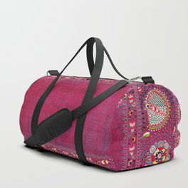 Shakhrisyabz  Southwest Uzbekistan Suzani Embroidery Print Duffle Bag