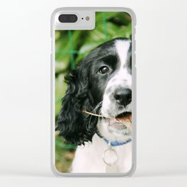 Puppy play Clear iPhone Case