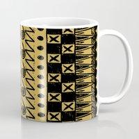 egypt Mugs featuring Aztec Egypt by DeMoose_Art
