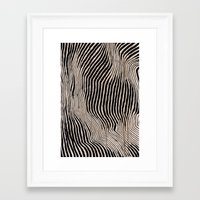 calligraphy Framed Art Prints featuring it's waving calligraphy by Anna Grunduls