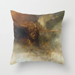 William Turner - Death on a Pale Horse Throw Pillow