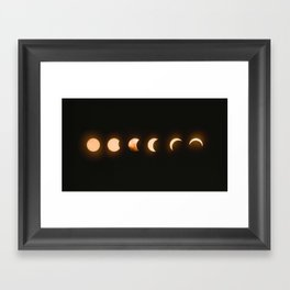 Solar Eclipse, Baily's beads Framed Art Print