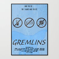 gremlins Canvas Prints featuring GREMLINS by Vloh