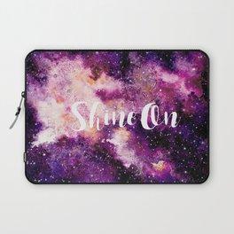 Shine On Galaxy in Purple Laptop Sleeve