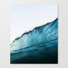Wave, Water, Ocean, Beach art, Blue, Modern art, Art, Minimal, Wall art Canvas Print