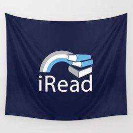 i Read | Book Nerd Slogan Wall Tapestry