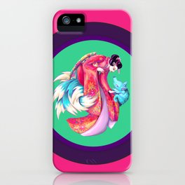 Maiko and Kitsune iPhone Case