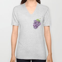 Watercolour Lilac Bloom Unisex V-Neck