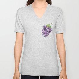 Watercolour Lilac Bloom Unisex V-Neck