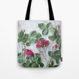Vintage Red Rose Tote Bag
