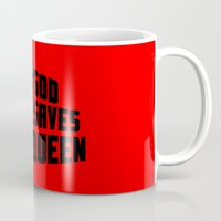 steve mcqueen Mugs featuring God saves McQueen by dutyfreak