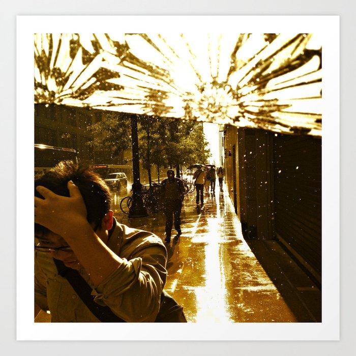 The Rain Runners #2 Art Print